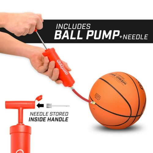 GoSports 7 Inch Mini Basketball *3 Pack* for Mini Hoops Pump Included!