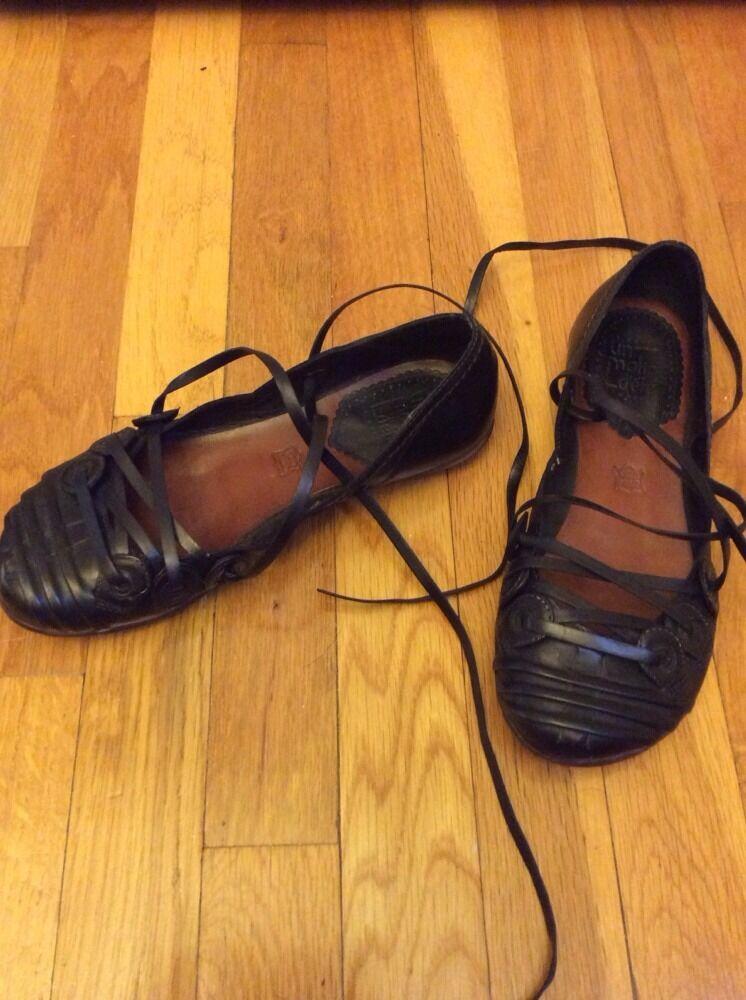 Jb Martin Un Matin D'ete Vero Cuoio Cuoio Cuoio Durable Greek Sandals Black Sz 38 Euro  7 US 6ed893