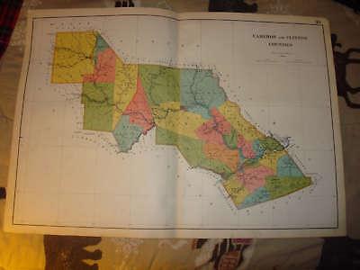 RARE 1770 PA MAP CAMERON LYCOMING CLINTON SNYDER COUNTY Pennsylvania History BIG