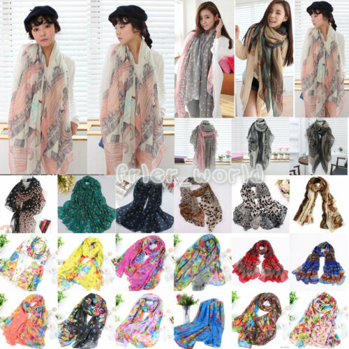 Fashion Womens Long Chiffon Scarf Wrap Ladies Shawl Girls Large Soft Scarves New
