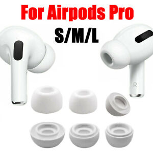 (S/M/L) For Apple AirPods Pro Replacement  Headset Soft Silicone Ear Tips Covers