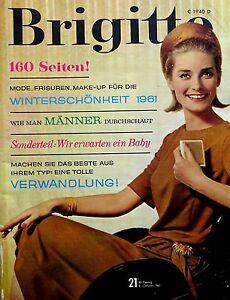 Details Zu Zeitschrift Brigitte Nr 21 Von 1961 Frisuren Mode Männer Durchschauen Uvm