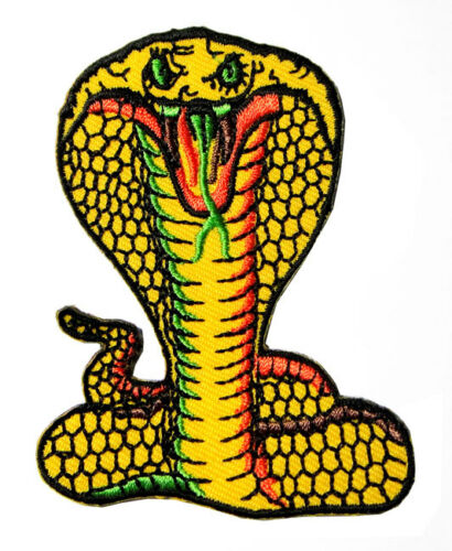 Cobra Snake for Jackets Biker Motorcycles Embroidered Iron on Patch Free Postage