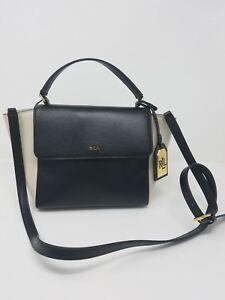 b2d8985f81e3 Image is loading Lauren-Ralph-Lauren-Barclay-Leather-Crossbody-Bag