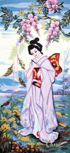 Grafitec Printed Tapestry//Needlepoint Kit Lavender Geisha