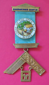 Masonic Past Master's Jewel Lodge of the Open Road No 5983