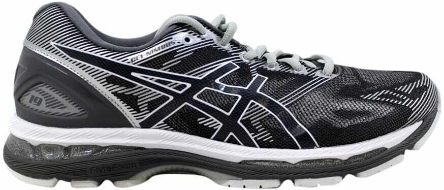 Asics Gel-Nimbus 19 Carbon White-Silver T700N 9701 Men's Size 9.5