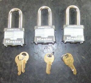 Masterlock Steel Body Padlocks 3MKLHW2KRED 6 Pack