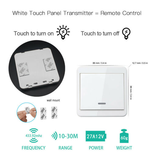 Wireless Light Switch Remote Control Wall Mounted Smart Home Gadget KTNNKG