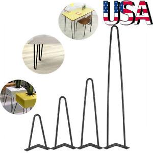 Heavy-Duty-Hairpin-Legs-Satin-8-034-28-034-Mid-Century-Modern-Set-of-4-Table-Legs