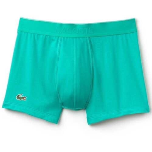 Short Trunk Lt verde Lacoste Hombre Micro Pique de algodón modal stretch boxer slip