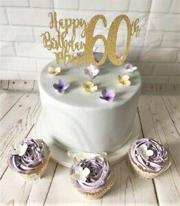 Pleasant Happy 60Th Birthday Mum Cake Topper Plant Pick Decoration Funny Birthday Cards Online Alyptdamsfinfo