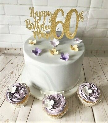 Miraculous Happy 60Th Birthday Mum Cake Topper Plant Pick Decoration Funny Birthday Cards Online Bapapcheapnameinfo