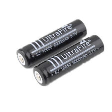 2x 18650 UltraFire 6000mAh Rechargeable 3.7V Li-ion Battery For Flashlight Torch