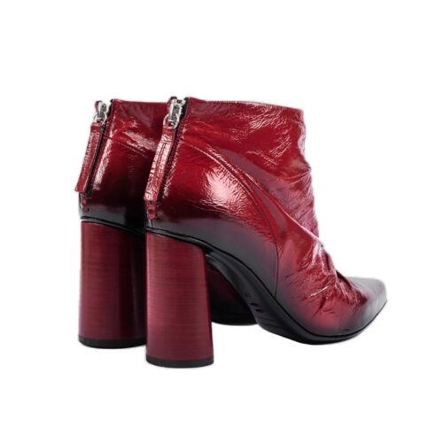 HALMANERA Low Boot Rot Glänzend 100/% Leder Giovi 09 Made IN Italy