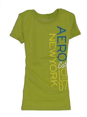 100% Authentic Women's AEROPOSTALE T-Shirt Green Size S,M,L 3191303053 3-2