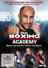 REAL BOXING ACADEMY-BOXEN LERNEN MIT ARTHUR ABRAHA  3 DVD NEU