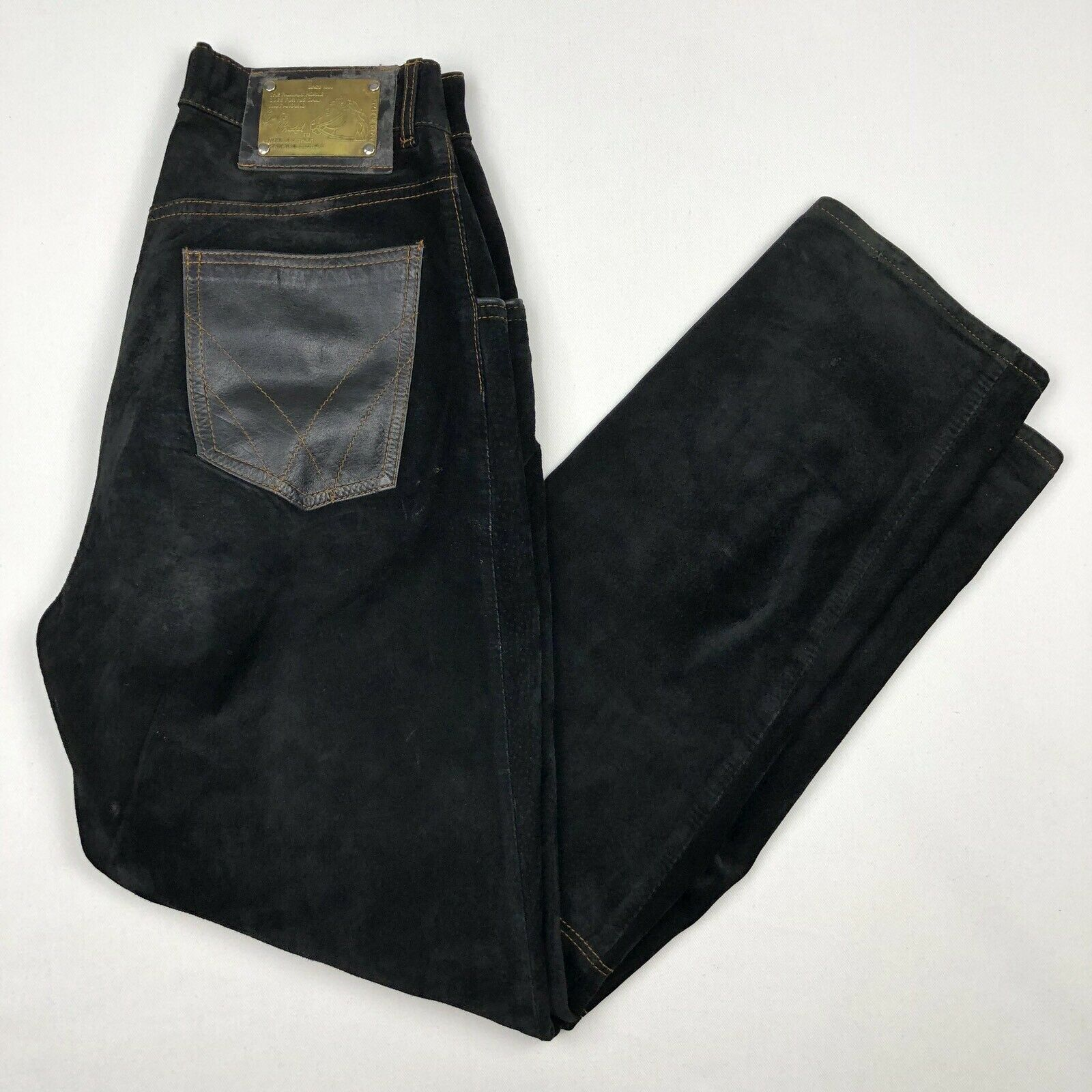 Centro Ciudad Leather Suede Equestrian Riding Pants • RARE • Spain • Size 38