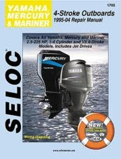 seloc marine repair manual 1705 mercury mariner yamaha 4 stroke rh ebay com marine power engine parts manual marine diesel engine repair manual