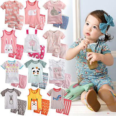 """44 Style"" Vaenait Baby Kids Girls Pajamas Short Sleepwear Clothes set 12M-7T"
