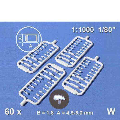 0,14€//Stück 60er Pack Fahrzeuge 1:1000 weiß Schulcz 03-10101