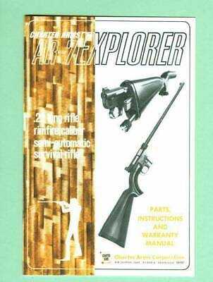 Charter Arms Model Model AR 7 Explorer Older Owners Manual Reproduction EBay