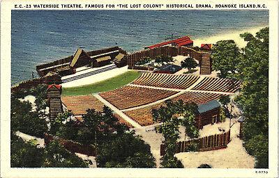The Lost Colony Roanoke Island North Carolina Vintage Linen Postcard Waterside Theatre
