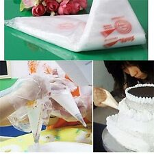 100PCS Disposable Bags Icing Nozzle Fondant Cake Decorating Pastry Tool DE