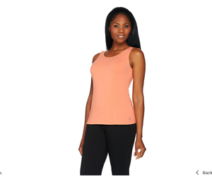 Linea-Leisure-by-Louis-Dell-039-Olio-Solid-Knit-Tank-Top-Sherbet-Color-Size-XL