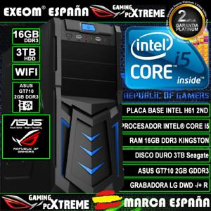 Ordenador-Gaming-Pc-Intel-i5-16GB-DDR3-3TB-GT710-2GB-WIFI-Windows-10-Sobremesa