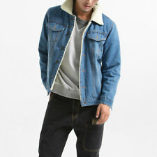 3864060ace7 item 5 Men Fleece Wool Lined Sherpa Denim Jacket Winter Trucker Coat Top  Jean Plus Size -Men Fleece Wool Lined Sherpa Denim Jacket Winter Trucker  Coat Top ...