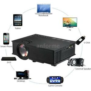 Uc46 multimedia mini led projector hd 1080p wifi 2 4g for Bluetooth hdmi projector
