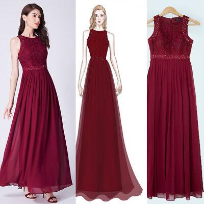 Ever-Pretty Plus Size Burgundy Sleeveless Long Clubwear Bridesmaid Dresses 07391