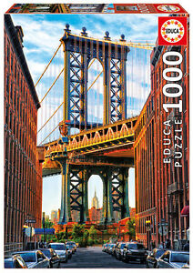 Puzzle Educa 17100 Puente de Manhattan, 1000 piezas, New York, bridge, teile