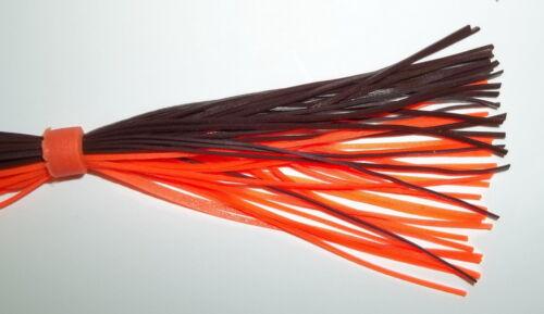 Brown//Orange 5 Custom Hand Made Silicone Spinnerbait Skirts Bass Fishing-Fishing