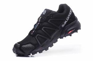Men-039-s-Salomon-Speedcross-4-Athletic-Running-Sports-Outdoor-Hiking-Shoes-Black