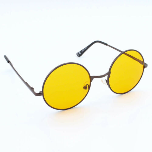 Round Lens Tea Shade Lennon Style Ladies Mens Sunglasses Bahoo Vintage 1960/'s