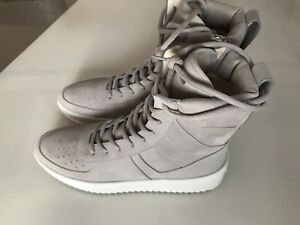 more photos 97976 b7c8f Image is loading Fear-of-God-Military-Sneakers-Overcast-Gray-Size-