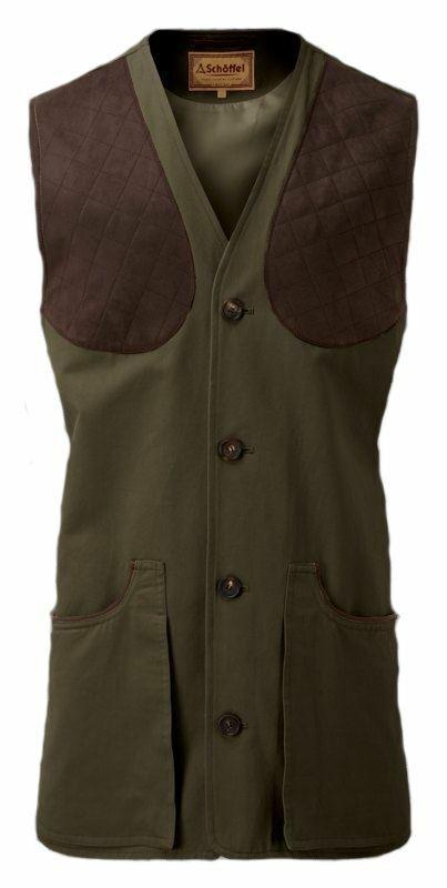 Schoffel All Season Mens Shooting Vest - Dark Olive