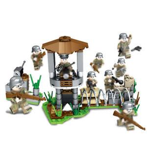 8pcs-set-Armee-Soldaten-Bausteine-Blocks-mit-Waffen-Bricks-WW2-Militaer-Figuren