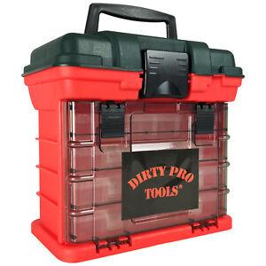 Portable-Armoire-de-rangement-Boite-a-outils-coffre-case-plastique-organisateur-diviseur-4-tiroirs