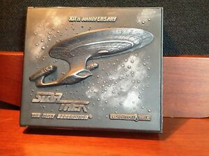 Star-Trek-The-Next-Generation-10th-Anniversary-4-CD-or-DVD-Jewel-Case-Holder