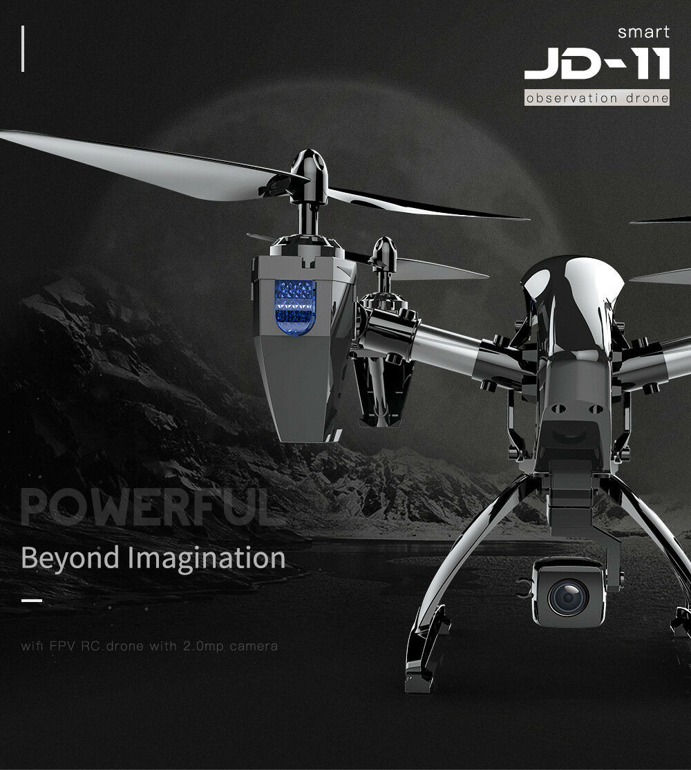JD-11 Aititude Hold 2.4G WiFi RC Quadcopter 6-Axis 2MP HD FPV Drone Helicopter