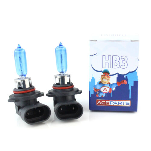Lexus IS MK1 HB3 65w Super White Xenon HID High Main Beam Headlight Bulbs Pair