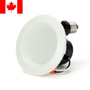 """Rayonled® 4"""" 8W LED Downlight 65W Equivalent Dimmable 600Lm Flood 3000K-6000K"""