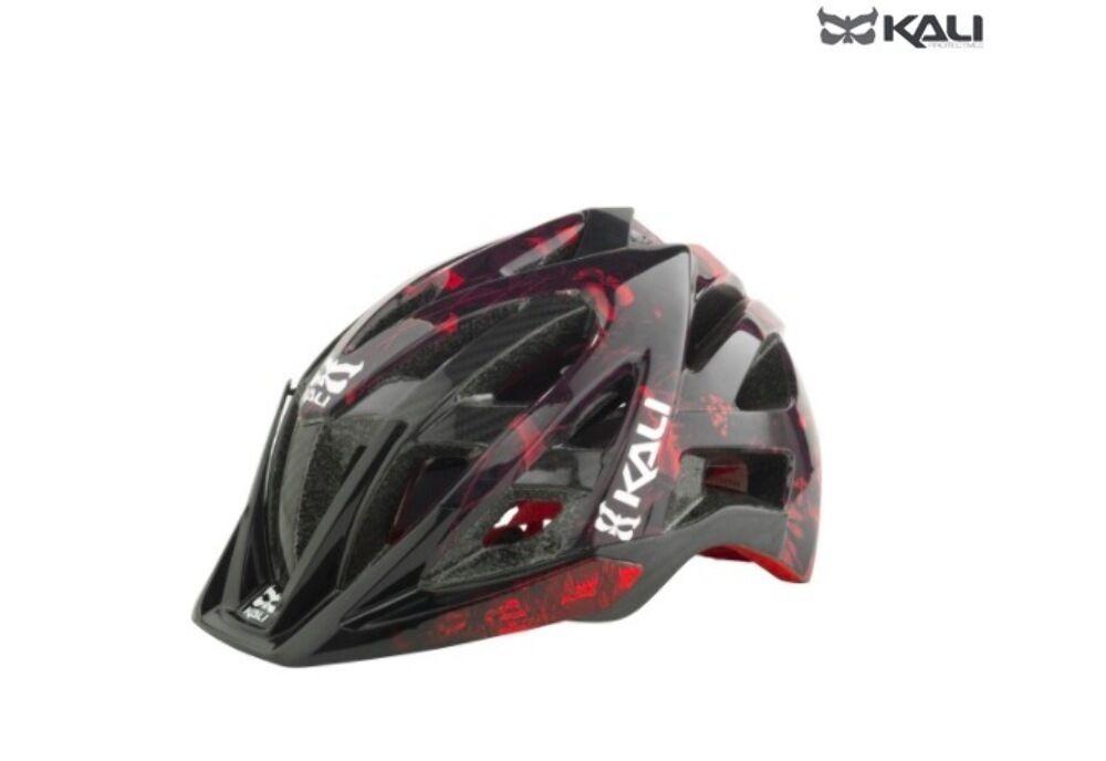 Kali Prossoectives Avana Mountain Bike Mtb Helmet Grunge rosso XSS New