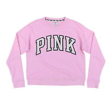 Victorias Secret Pink Sweater Fuzzy Knit Pullover Vs Logo Long