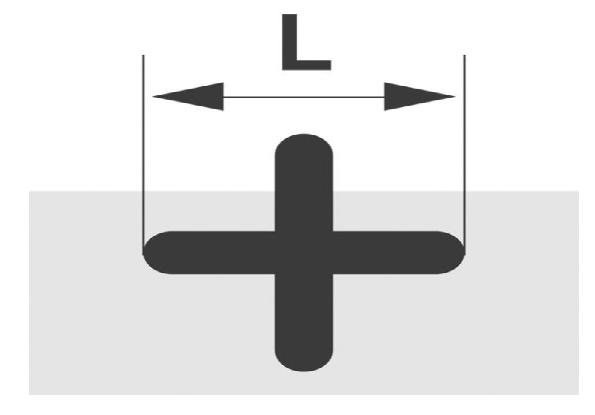 2,0x14mm FLK20L TRIUSO Fliesenkreuze 500 Stk