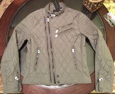 Ralph Lauren Black Label Grand Prix Waxed Moto Jacket Slim Fit Sz Medium New Tag
