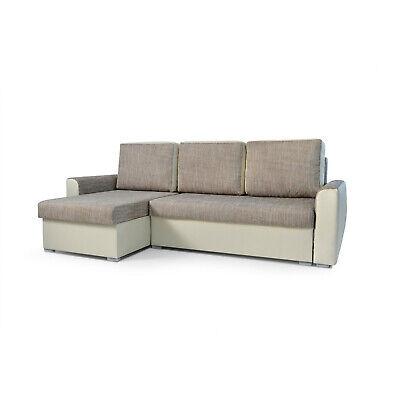 Tissu D'angle Silva Simili Cuir Relax Canapé Convertible Lit Et EIWYDH29